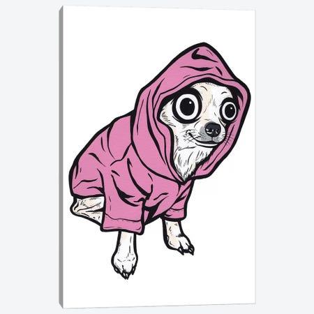 Chihuahua Hoodie Canvas Print #AGU88} by Allyson Gutchell Canvas Art Print