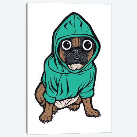 French Bulldog Hoodie Canvas Print #AGU90} by Allyson Gutchell Canvas Artwork