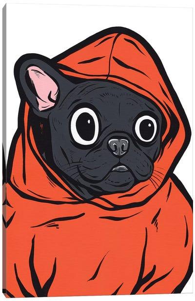 French Bulldog Hoodie Canvas Art Print