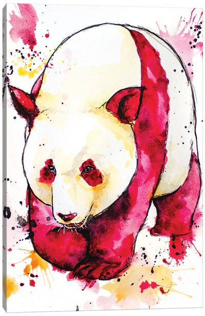Red Giant Panda Canvas Art Print