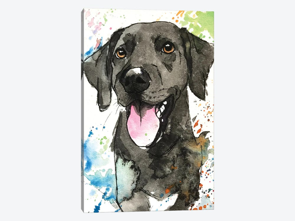 Remmy The Black Lab by Allison Gray 1-piece Canvas Wall Art