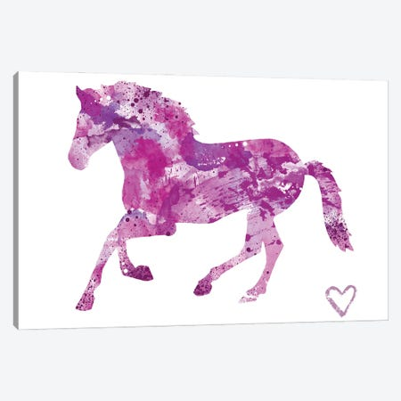 Running Horse Silhouette Canvas Print #AGY108} by Allison Gray Canvas Art