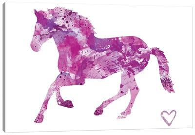 Running Horse Silhouette Canvas Art Print