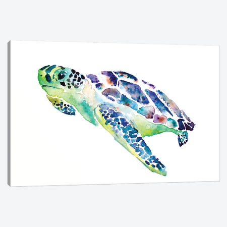Sea Turtle Canvas Print #AGY111} by Allison Gray Canvas Art Print