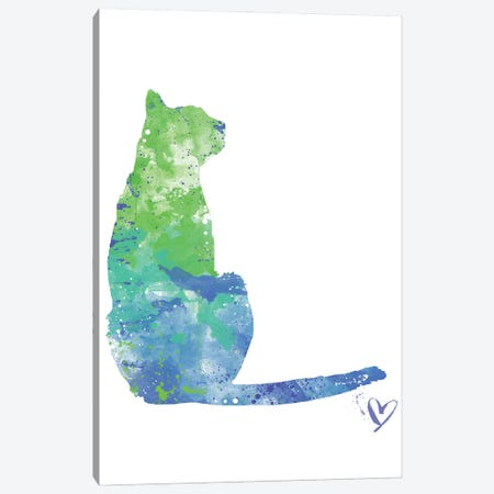 Sitting Cat Silhouette Canvas Print #AGY115} by Allison Gray Canvas Wall Art