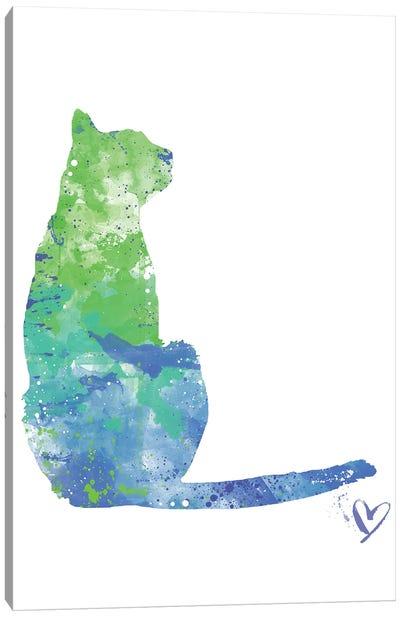 Sitting Cat Silhouette Canvas Art Print