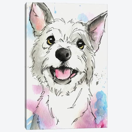Soft Pastel Terrier Canvas Print #AGY117} by Allison Gray Canvas Artwork