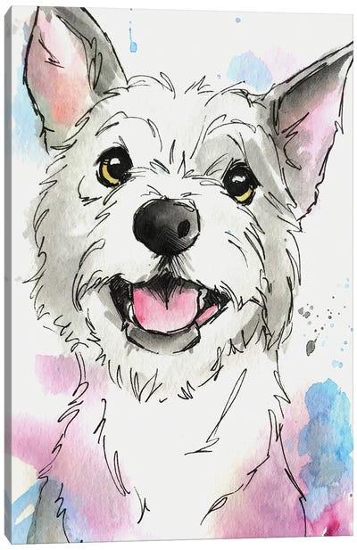 Soft Pastel Terrier Canvas Art Print