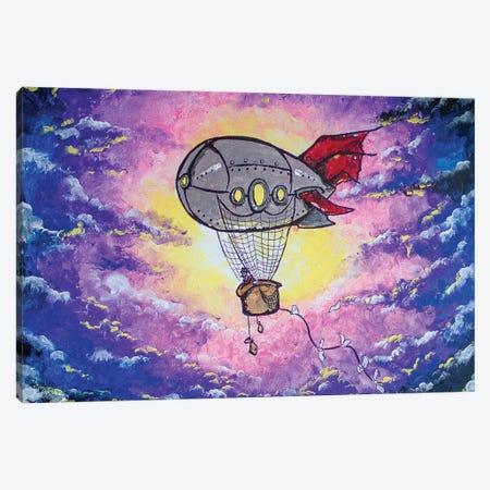 Steampunk Air Ship Canvas Print #AGY118} by Allison Gray Canvas Art Print