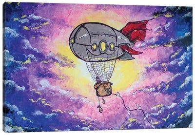 Steampunk Air Ship Canvas Art Print