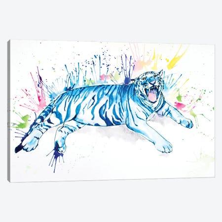 Blue Tiger Canvas Print #AGY11} by Allison Gray Canvas Wall Art