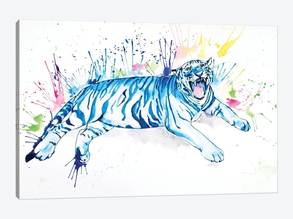 Blue Tiger by Allison Gray 1-piece Canvas Art Print