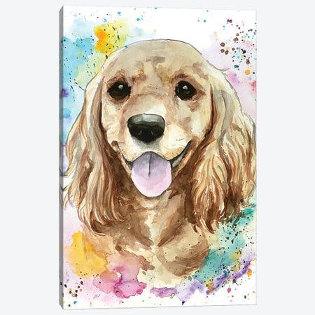 Sweet Cocker Spaniel Canvas Print #AGY120} by Allison Gray Canvas Wall Art