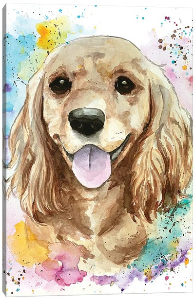 Sweet Cocker Spaniel Canvas Art Print