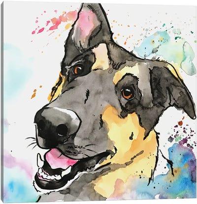 Sweet German Shepherd Canvas Art Print