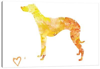 Whippet Greyhound Silhouette Canvas Art Print