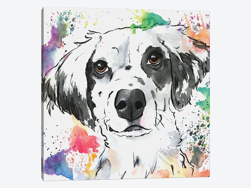 Brilliant Spaniel Mix Dog by Allison Gray 1-piece Canvas Art