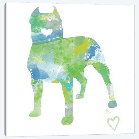 American Pit Bull Terrier Silhouette Canvas Print #AGY1} by Allison Gray Art Print