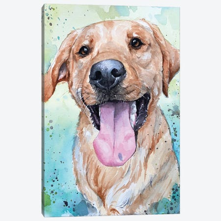 Carl The Red Lab Canvas Print #AGY22} by Allison Gray Canvas Print