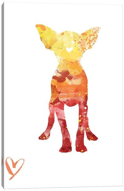 Chihuahua Silhouette Canvas Art Print