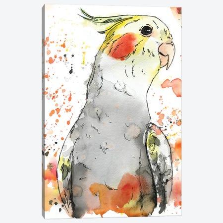 Cockatiel Canvas Print #AGY30} by Allison Gray Canvas Art