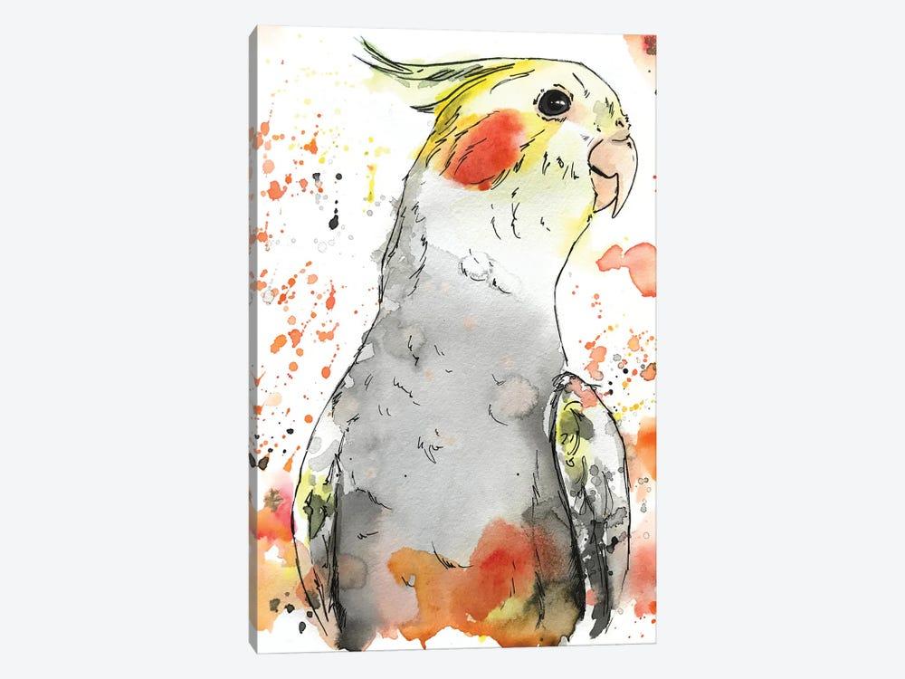 Cockatiel by Allison Gray 1-piece Canvas Art