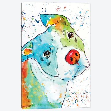Color Pop Pup Canvas Print #AGY33} by Allison Gray Canvas Artwork