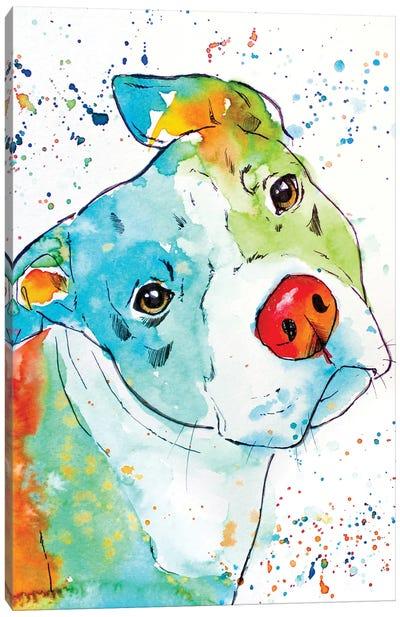 Color Pop Pup Canvas Art Print