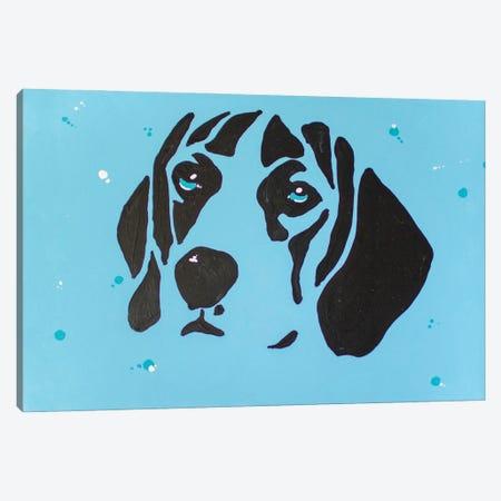 Contrast Beagle Canvas Print #AGY35} by Allison Gray Art Print