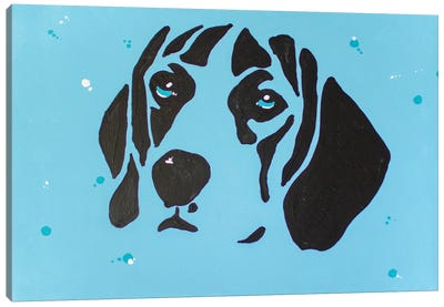 Contrast Beagle Canvas Art Print