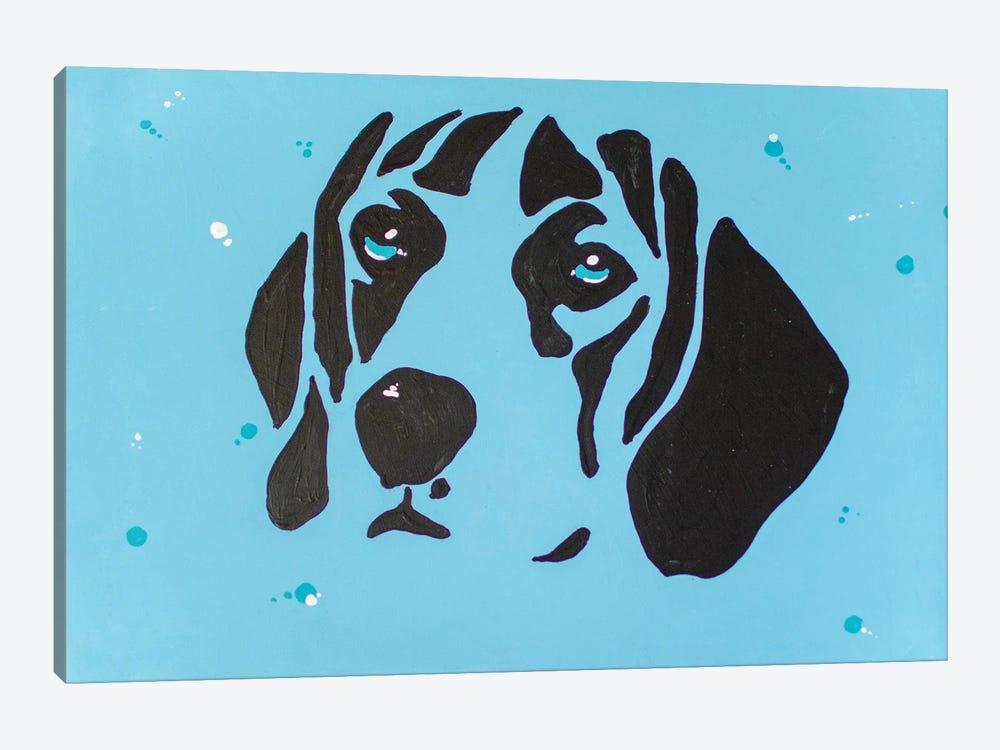 Contrast Beagle by Allison Gray 1-piece Canvas Art Print
