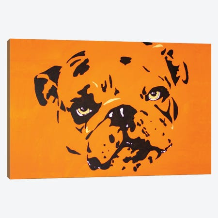 Contrast Bulldog Canvas Print #AGY36} by Allison Gray Canvas Print