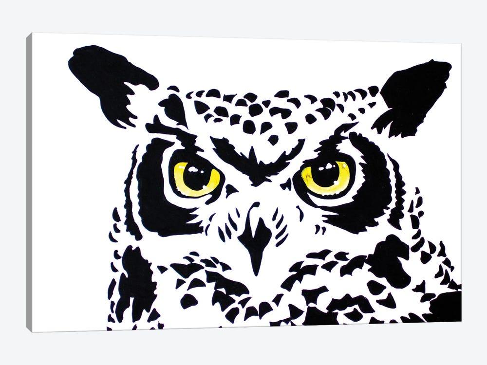 Contrast Owl by Allison Gray 1-piece Canvas Art Print