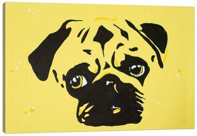 Contrast Pug Canvas Art Print