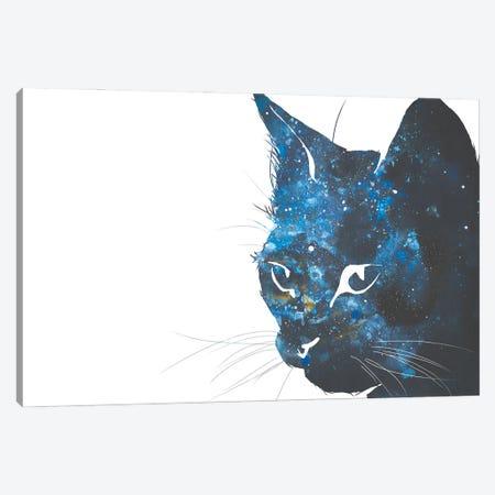 Cosmic Cat Head Silhouette Canvas Print #AGY41} by Allison Gray Canvas Art Print