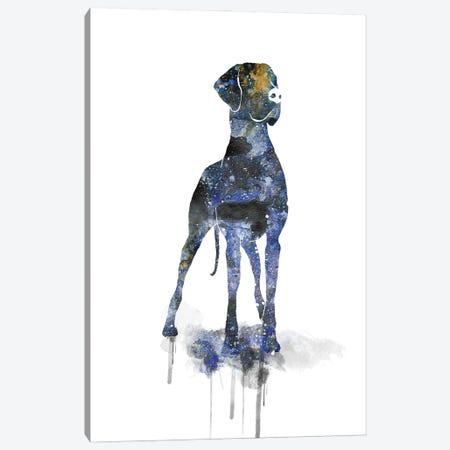 Cosmic Great Dane Silhouette Canvas Print #AGY42} by Allison Gray Canvas Print