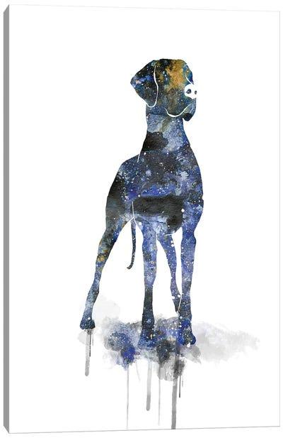 Cosmic Great Dane Silhouette Canvas Art Print