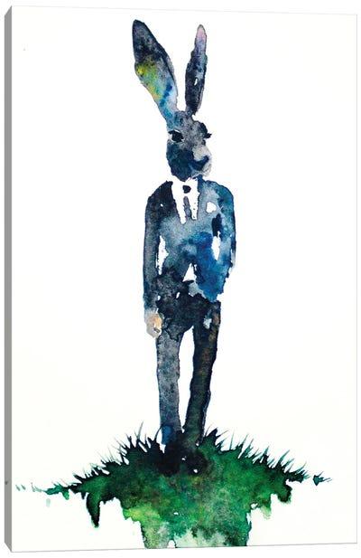 Dapper Hare Canvas Art Print