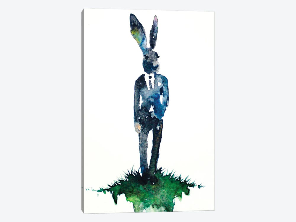 Dapper Hare by Allison Gray 1-piece Canvas Artwork