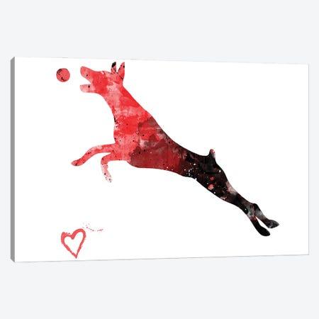 Doberman Pinscher Silhouette Canvas Print #AGY48} by Allison Gray Canvas Print