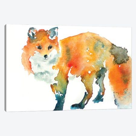 Fox Canvas Print #AGY51} by Allison Gray Canvas Artwork