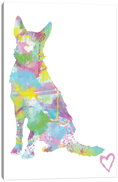 German Shepherd Silhouette I Canvas Art Print