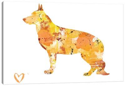 German Shepherd Silhouette II Canvas Art Print