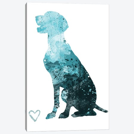 German Shorthaired Pointer Silhouette Canvas Print #AGY58} by Allison Gray Canvas Artwork