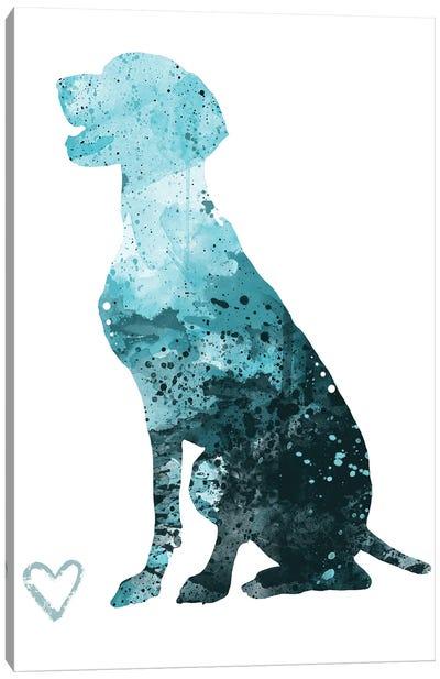 German Shorthaired Pointer Silhouette Canvas Art Print