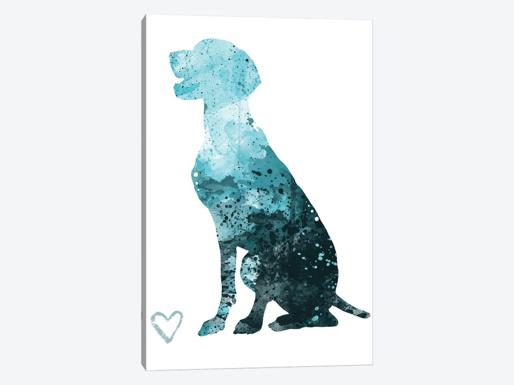 German Shorthaired Pointer Silhouette by Allison Gray 1-piece Canvas Art