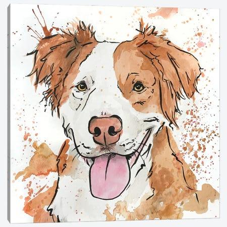 Gleeful Ginger Spaniel Canvas Print #AGY59} by Allison Gray Canvas Art