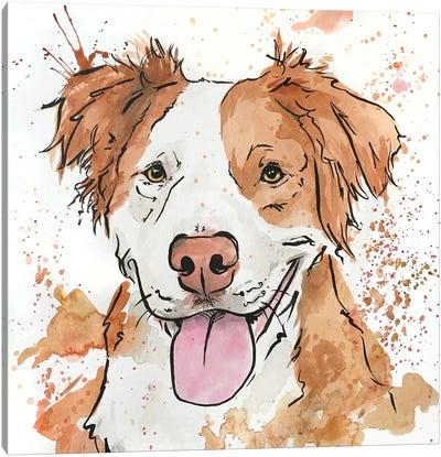 Gleeful Ginger Spaniel Canvas Art Print