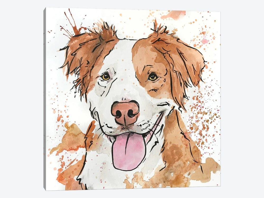 Gleeful Ginger Spaniel by Allison Gray 1-piece Canvas Print