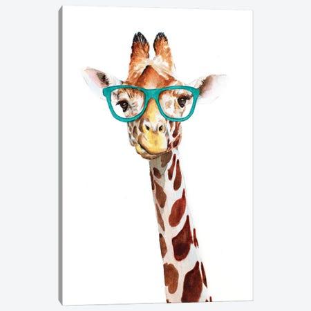 Hipster Giraffe Canvas Print #AGY68} by Allison Gray Art Print